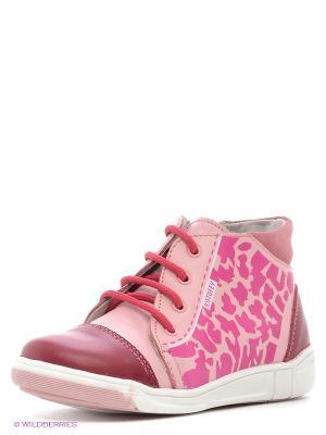 Ботинки Котофей. Цвет: розовый