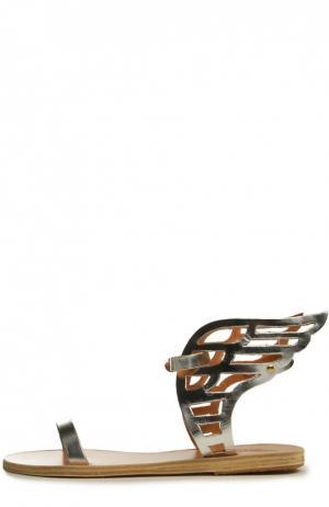 Кожаные сандалии Ikaria Ancient Greek Sandals. Цвет: серебряный