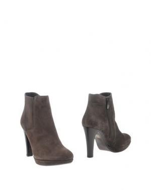 Полусапоги и высокие ботинки PEPE CASTELL. Цвет: темно-коричневый