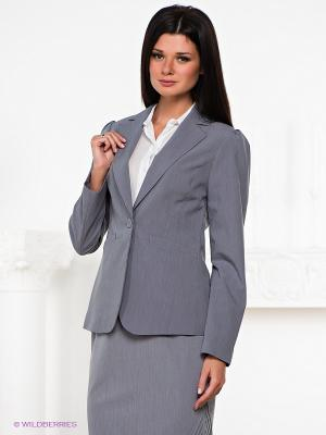 Пиджак Natali Silhouette. Цвет: серый