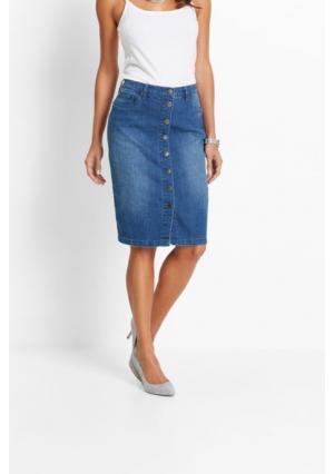 Джинсовая юбка. Цвет: белый, серый деним, синий
