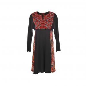 Платье Satiete с принтом и вышивкой RENE DERHY. Цвет: рисунок черный/красный