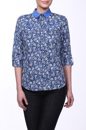 Блузка E.LEVY. Цвет: синий