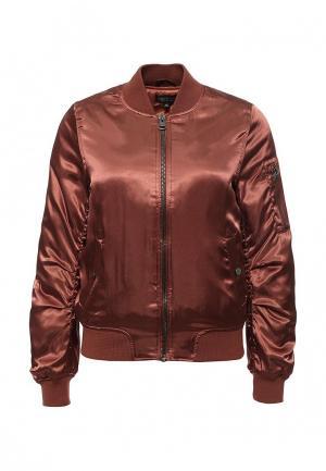 Куртка утепленная Topshop. Цвет: коричневый