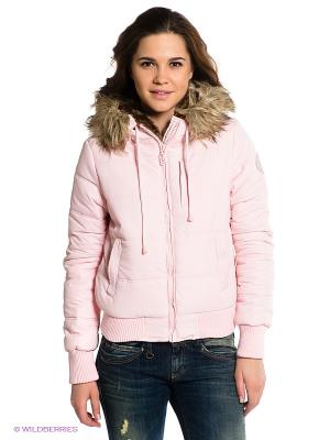 Куртка BSB. Цвет: розовый
