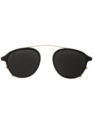 Солнцезащитные очки на переносицу Eyevan7285. Цвет: чёрный