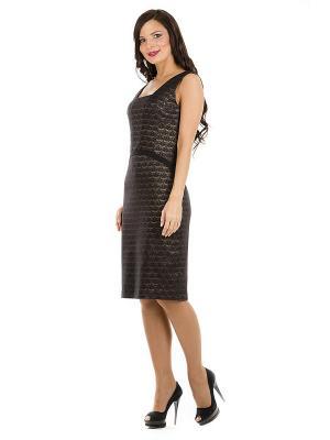 Платье PROFITO AVANTAGE. Цвет: черный, коричневый