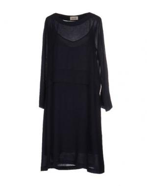 Платье до колена NIU'. Цвет: темно-синий