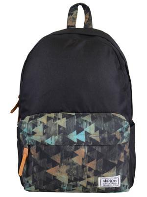 Рюкзак Street Bags. Цвет: черный, зеленый