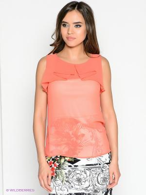 Блузка DEVORE. Цвет: персиковый