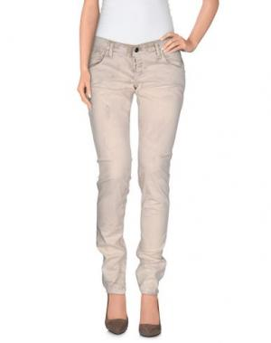 Повседневные брюки TAKE-TWO. Цвет: бежевый