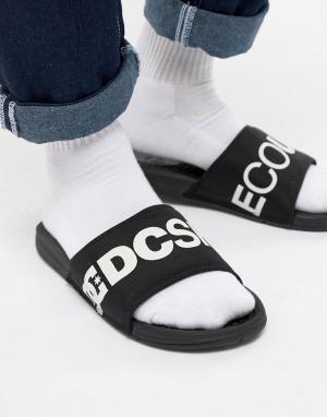 DC Shoes Черные шлепанцы Bolsa. Цвет: черный
