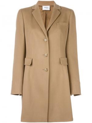 Однобортное пальто Akris Punto. Цвет: телесный