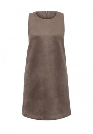 Платье Sela. Цвет: коричневый