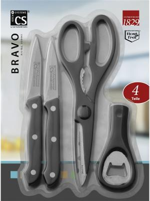 Набор BRAVO из нержавеющей стали, 4 предмета Koch Systeme. Цвет: черный, серебристый