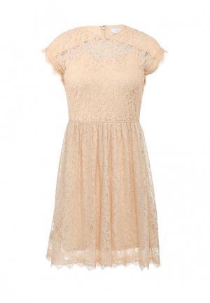 Платье LOST INK. Цвет: бежевый
