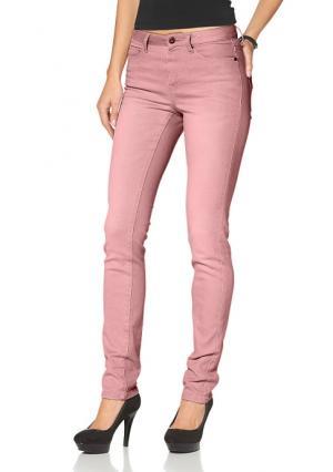 Джинсы Arizona. Цвет: белый, дымчато-розовый