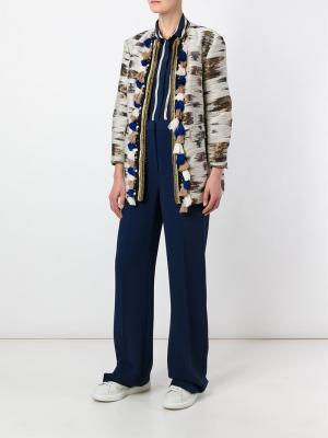 Жаккардовое пальто Bazar Deluxe. Цвет: телесный