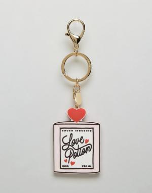 BAN DO Брелок для ключей с надписью Love Potion Ban.Do. Цвет: мульти