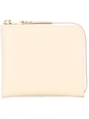 Кошелек на молнии Classic Line Comme Des Garçons Wallet. Цвет: белый