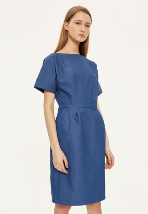 Платье джинсовое Base Forms. Цвет: синий