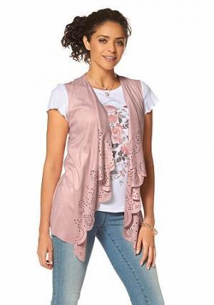 Удлиненный жилет Boysens BOYSEN'S. Цвет: розовый