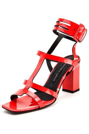 Босоножки на каблуках Gianmarco Lorenzi. Цвет: красный