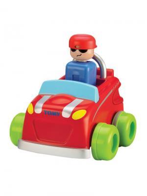 Машинка нажимай и гоняй TOMY.. Цвет: белый