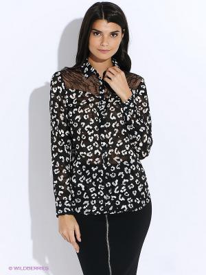 Рубашка GUESS. Цвет: белый, черный
