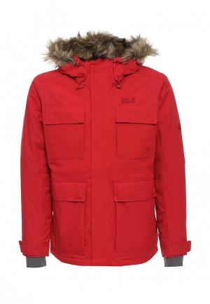 Куртка утепленная Jack Wolfskin. Цвет: красный