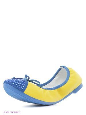 Балетки Vitacci. Цвет: желтый, синий