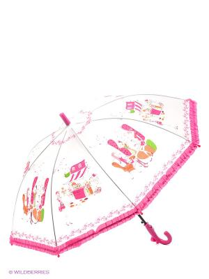 Зонт детский Модница Mary Poppins. Цвет: белый, фуксия