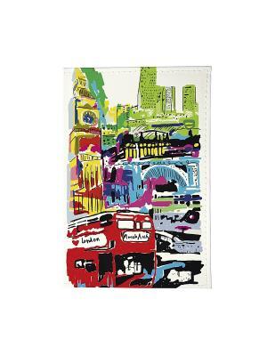 Визитница Лондон в красках Арт. VIZIT152 Mitya Veselkov. Цвет: белый, черный