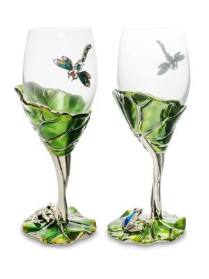 Набор бокалов в подар.кор. Лотос с лягушкой Win. Цвет: зеленый