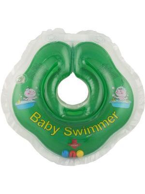 Круг зеленый (полуцвет+внутри погремушка) Baby Swimmer. Цвет: зеленый