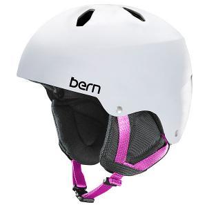 Шлем для сноуборда детский  Snow EPS Diabla Satin White/Black Liner Bern. Цвет: белый
