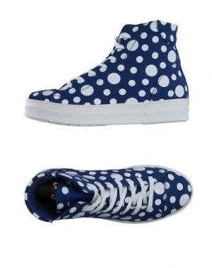 Высокие кеды и кроссовки SGN GIANCARLO PAOLI. Цвет: синий