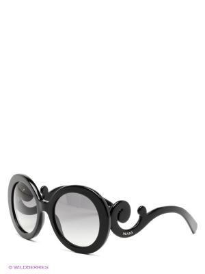 Очки солнцезащитные PRADA. Цвет: черный