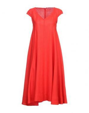 Платье до колена MAISON LAVINIATURRA. Цвет: красный