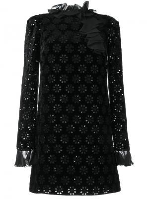 Платье в стиле кроше Giambattista Valli. Цвет: чёрный