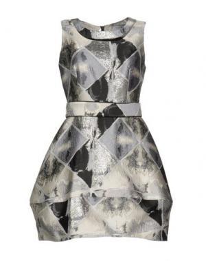 Короткое платье EYEDOLL. Цвет: светло-серый