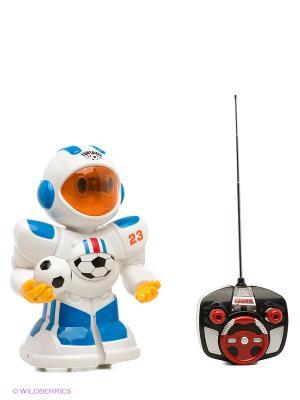Игрушка радиоуправляемая Робот-футболист Shantou Gepai. Цвет: белый, синий