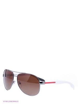 Очки солнцезащитные BENBOW Prada Linea Rossa. Цвет: темно-серый
