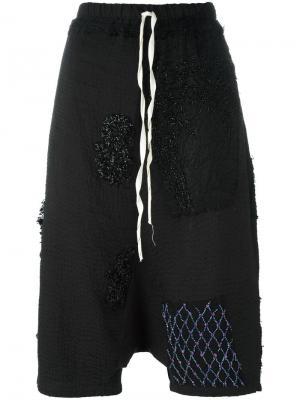 Укороченные брюки с заниженной шаговой линией By Walid. Цвет: чёрный