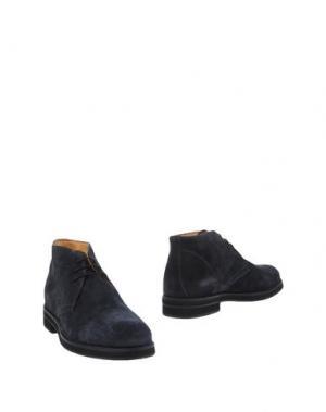 Полусапоги и высокие ботинки BRUNO VERRI. Цвет: темно-синий