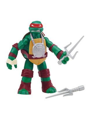 Фигурка функ.Черепашки-ниндзя 15см со звуковыми эффектами Рафаэль Playmates toys. Цвет: зеленый, красный