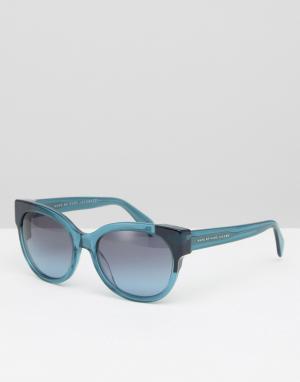 Marc By Jacobs Массивные солнцезащитные очки кошачий глаз. Цвет: зеленый