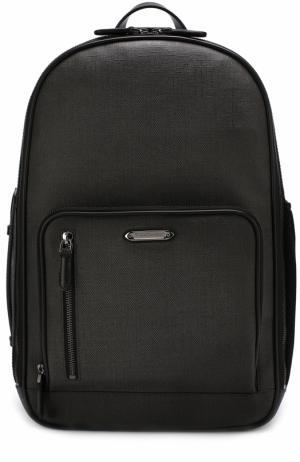Текстильный рюкзак с внешним карманом на молнии Ermenegildo Zegna C1292A-SPM