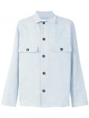 Куртка Two Pocket Garment Dye Umit Benan. Цвет: синий