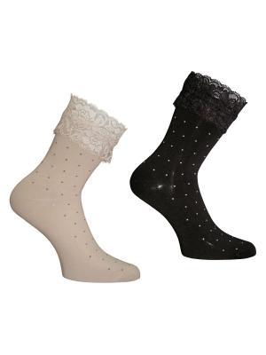 Носки 2 пары Master Socks. Цвет: бежевый, черный